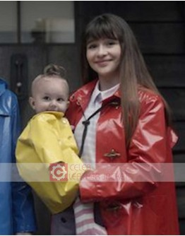 A Series Of Unfortunate Events Malina Weissman Leather Rain Coat