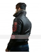 New Top Gun Bomber Flight Brown Leather Jacket