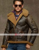 Ralph Lauren Shearling Bomber Leather Jacket