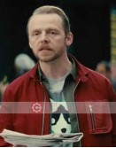 Mission Impossible 5 Simon Pegg (Benji Dunn) Suede Jacket