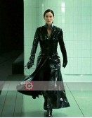 The Matrix Reloaded Carrie-Anne Moss (Trinity) Trench Coat