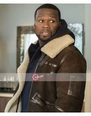 Power 50 Cent Brown Shearling Jacket