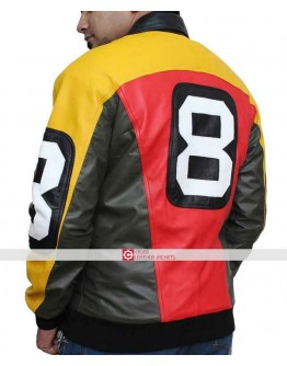 8 Ball Bomber Michael Hoban Leather Jacket