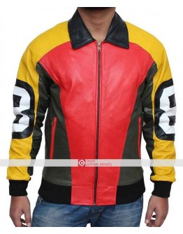 8 Ball Michael Hoban Bomber Leather Jacket