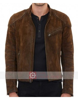 Arrow Season 3 Colton Haynes Roy Harper Suede Jacket