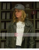 Captain Marvel Carol Danvers Black Leather Jacket