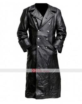 GERMAN PEA COAT Black Men's Classic Officer Military Jacket
