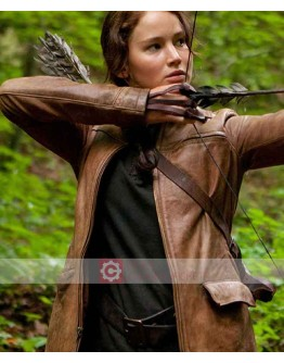 Hunger Games Jennifer Lawrence Leather Jacket
