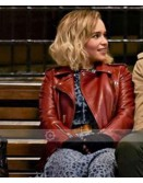 Last Christmas Emilia Clarke Leather Jacket