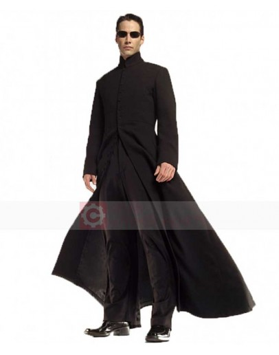 Neo Matrix Keanu Reeves Trench Costume Coat