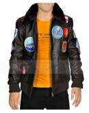 Top Gun Tom Cruise Leather Jacket