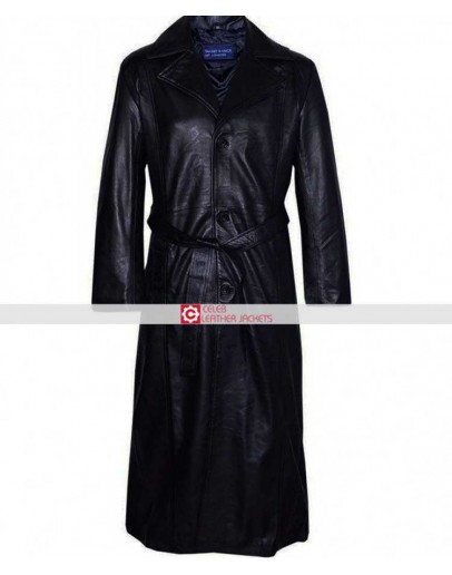 Blade Movie Wesley Snipes Black Leather Coat