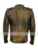 Vintage Brown Distressed Motorcycle Leather Jacket