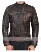 Vintage New Distressed Biker Leather Jacket