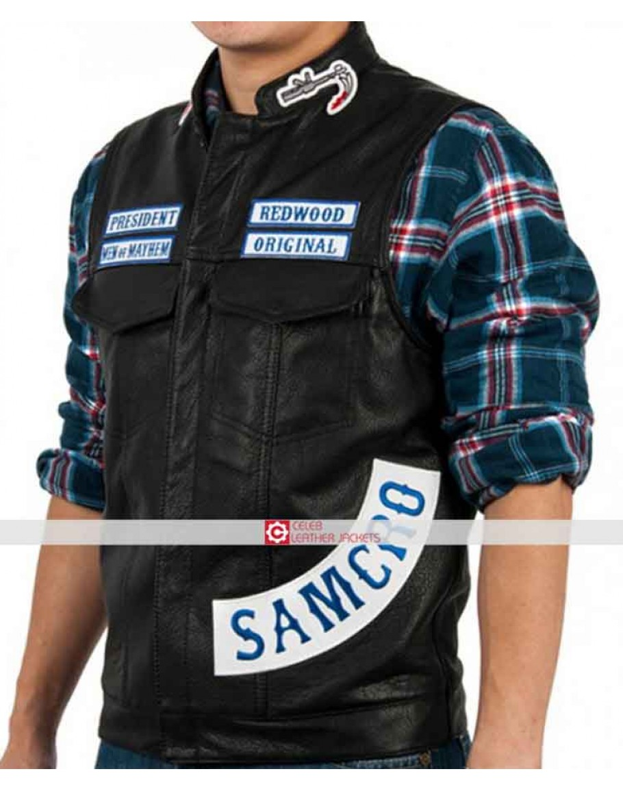 Sons Of Anarchy Vest Charlie Hunnam Jax Teller Vest Leather