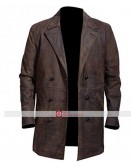 John Hurt War Doctor Brown Leather Jacket