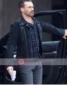 Baby Driver Jon Hamm Biker Jacket