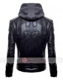Batman Black Hoodie Leather Jacket