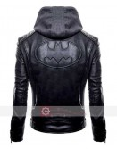 Batman Black Hoodie Leather Jacket