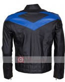 Batman Arkham Knight Dick Grayson (Nightwing) Leather Jacket