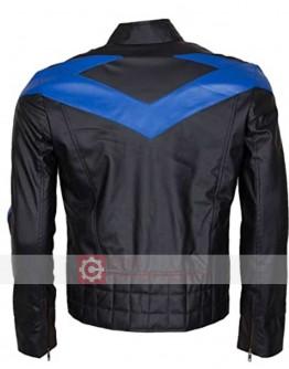 Batman Arkham Knight Dick Grayson (Nightwing) Leather Jacket
