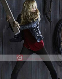 Bitten Laura Vandervoort Black Leather Jacket