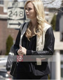 Bitten Laura Vandervoort Bomber Leather Jacket