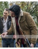 BlacKkKlansman Adam Driver Shearling Jacket