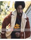 BlacKkKlansman John David Washington Shearling Jacket