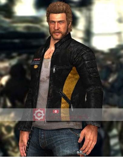 Dead Rising 3 Chuck Greene Black Leather Jacket