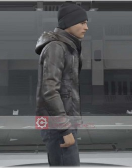 Detroit Become Human Connor Hoodie Leather Jacket