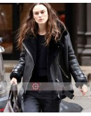 Keira Knightley Shearling Leather Jacket