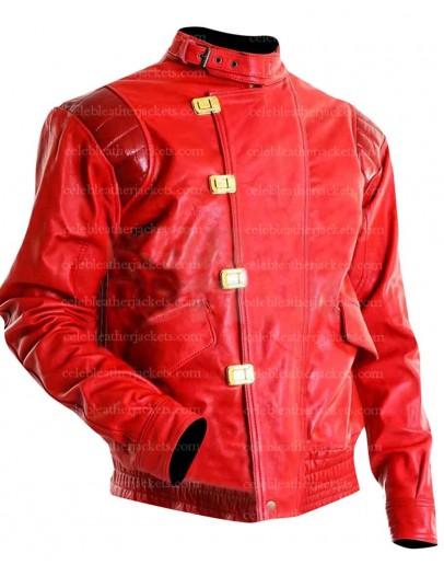 Akira Kaneda Pill Red Motorcycle Jacket