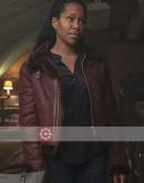 Watchmen Regina King Shearling Leather Jacket