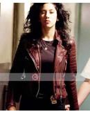 Brooklyn Nine Nine Stephanie Beatriz Brown Leather Jacket