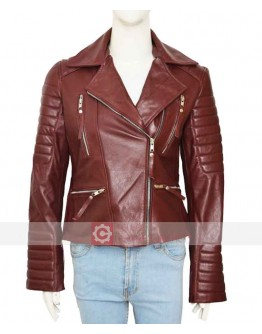 Brooklyn Nine Nine Stephanie Beatriz Brown Leather Jacket