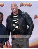 Jumanji The Next Level Dwayne Johnson Premiere Leather Jacket