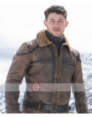 Jumanji The Next Level Nick Jonas Shearling Jacket