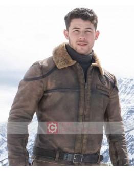 Jumanji The Next Level Nick Jonas Shearling Jacket