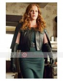 Once Upon A Time Zelena Caped Leather Jacket