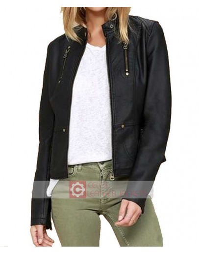 Peace Of Mind Black Vegan Leather Jacket