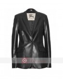 Captain America The Winter Soldier Scarlett Johansson Leather Blazer