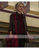 Chilling Adventures Of Sabrina Kiernan Shipka Leather Coat