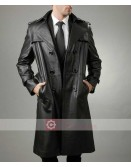 FBI Detective Style Halloween Trench Leather Coat