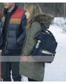 Locke & Key Emilia Jones Fur Collar Coat