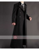 Napoleon Style French Military Black Trench Coat