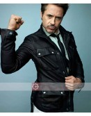 Robert Downey Jr Aka Iron Man Belstaff Leather Jacket