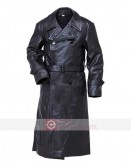 WW2 German Gestapo Cowhide Trench Leather Coat