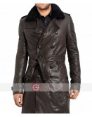 WW2 German Officiers Navy Brown Leather Coat