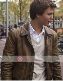 The Fault In Our Stars Ansel Elgort (Gus) Leather Jacket